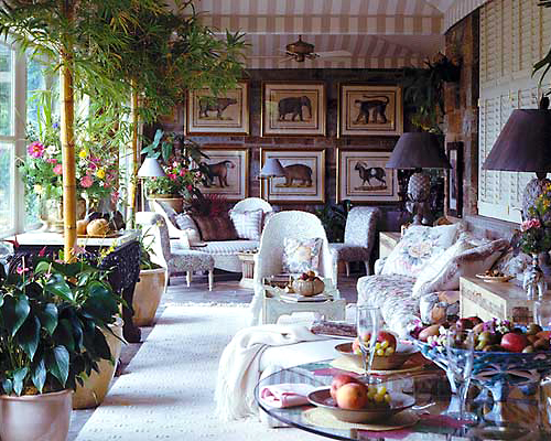 National Symphony Orchestra Designer's Showhouse - Loggia | Published in 'Veranda' Magazine